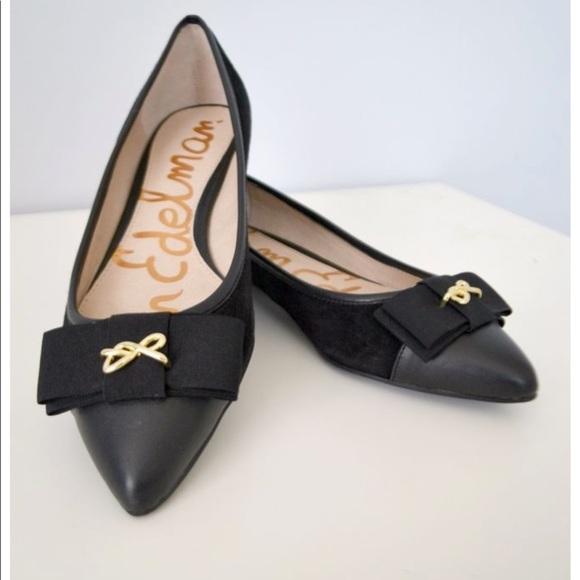 4e9a2d4611d1 Sam Edelman Shoes | New Lizzy Flats New Black Suede 65m | Poshmark